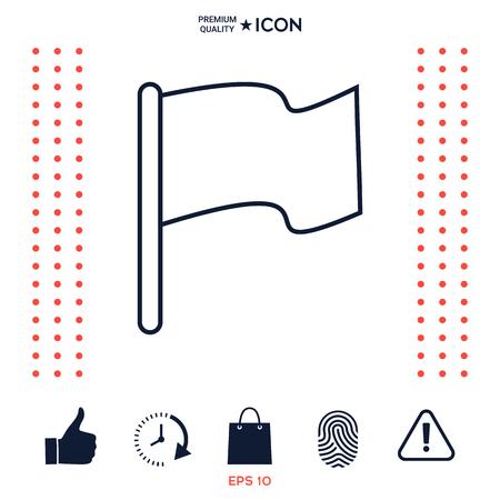 Flag linear icon Ilustração