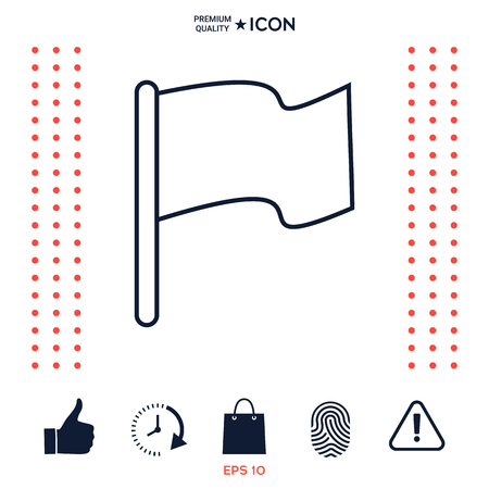 Flag linear icon Illustration