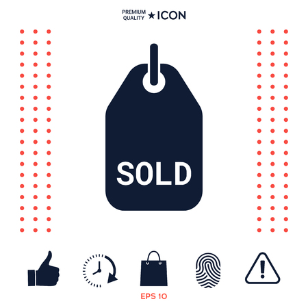 Tag-Symbol verkauft