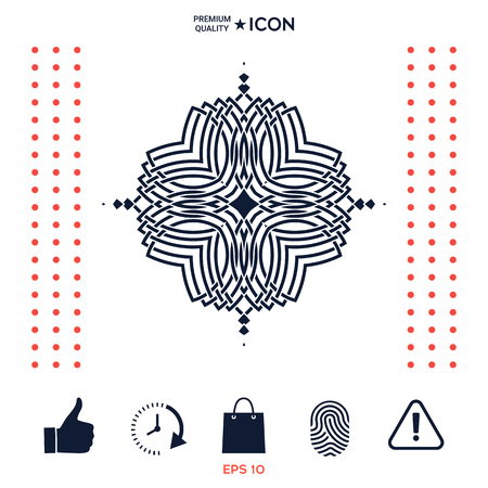 Geometrisch oosters patroon. Logo voor uw ontwerp