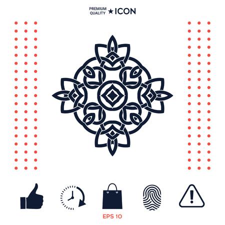 Logo. Geometrisch oosters Arabisch patroon. Element voor uw ontwerp