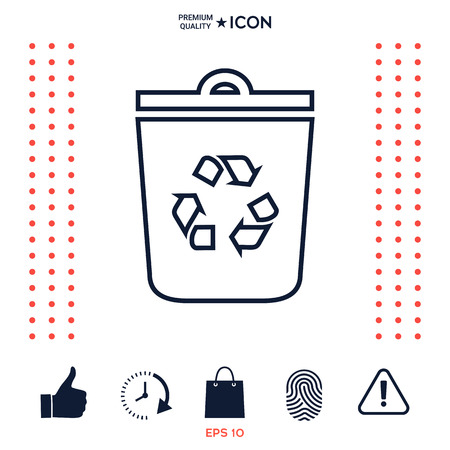 ゴミ箱、ごみ箱のシンボルアイコン