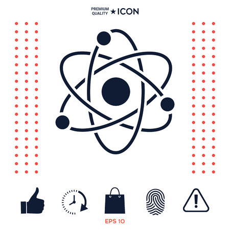 Atom symbol - science icon