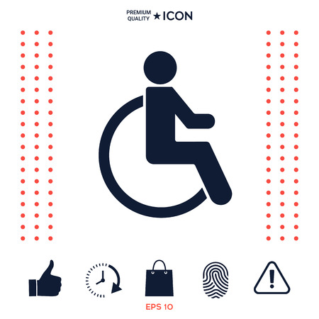 Wheelchair handicap icon Ilustrace