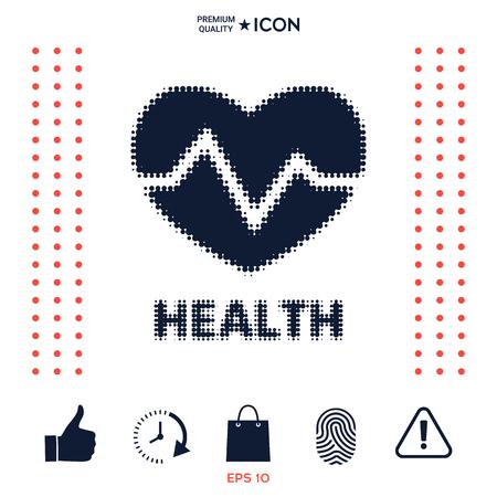Heart symbol - halftone logo.