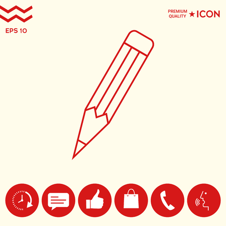 Pencil - linear icon Illustration