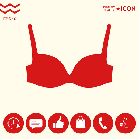 Woman underwear, the silhouette. Menu item in the web design