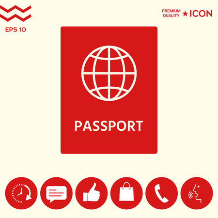 Passport icon. symbol