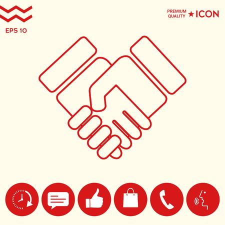 Handshake symbol icon Ilustrace