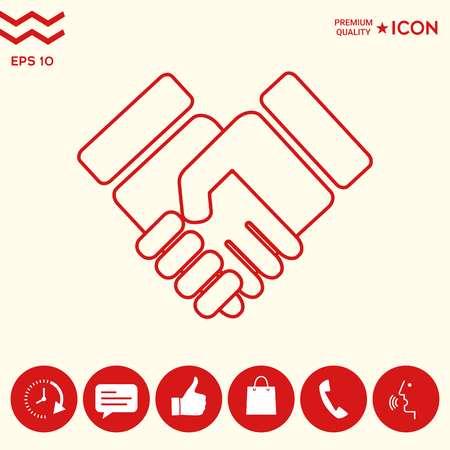 Handshake symbol icon Illustration