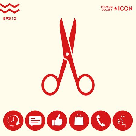 Scissors icon symbol