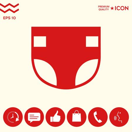 Nappy icon symbol Illustration