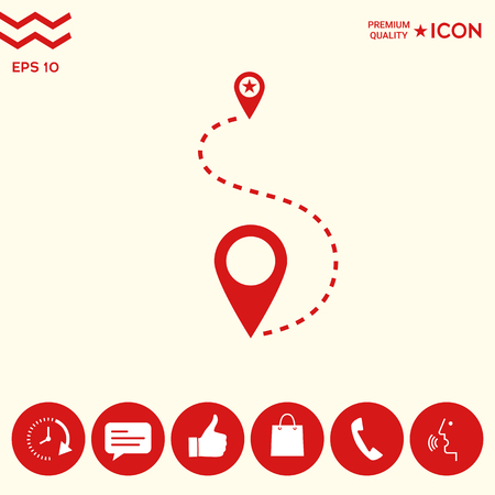 Location Icon symbol Vettoriali
