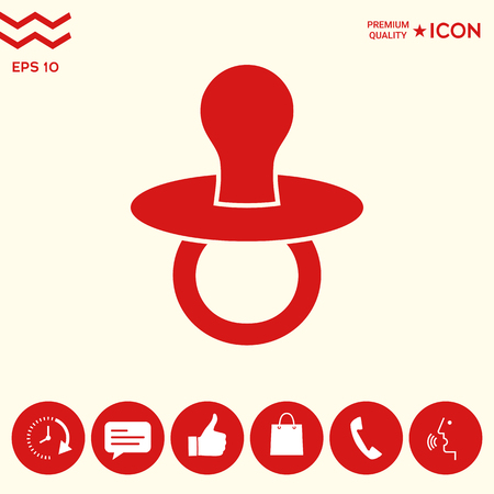 Baby pacifier -  icon Ilustrace