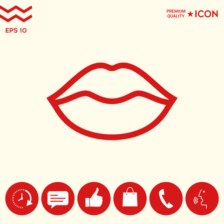 Lips linel icon