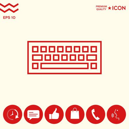 Keyboard icon symbol