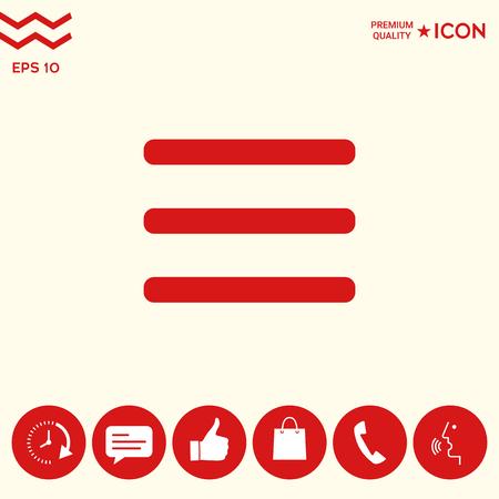 Menu Icon symbol 写真素材 - 102351641
