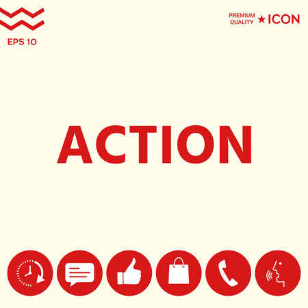 Action button symbol