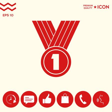 Medal Icon  symbol Illustration