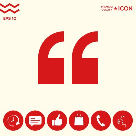 Quote icon symbol
