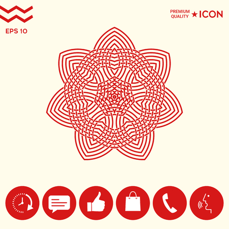Geometrisch Arabisch patroon Logo.