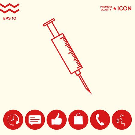 Medical syringe icon Illustration