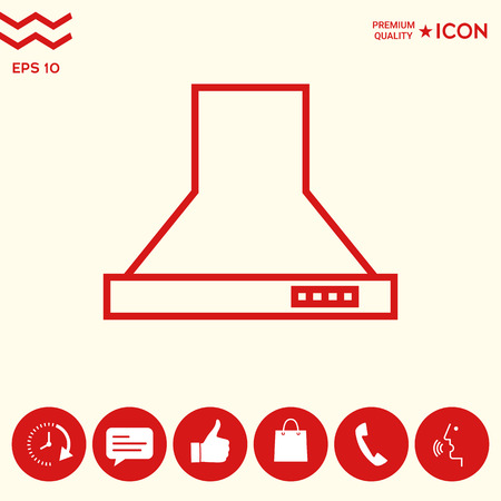 Kitchen hood linear icon Vectores