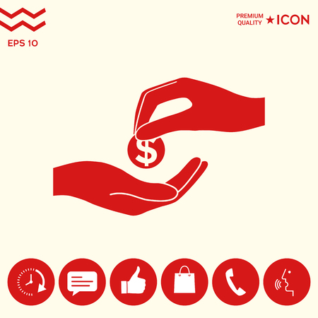 Receiving money icon