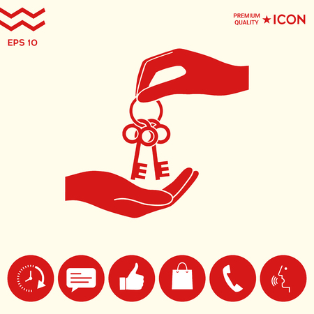 Receiving the bunch of keys - icon.