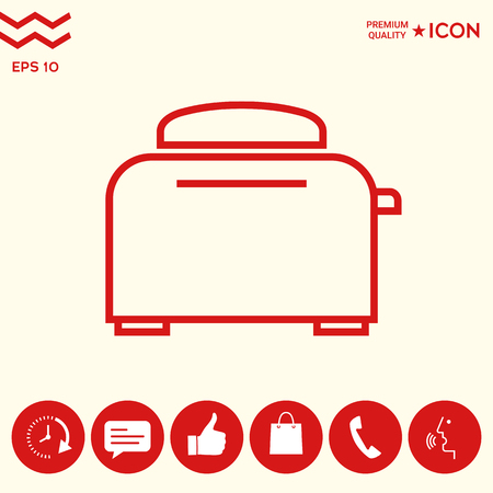 Toaster Oven linear icon Illustration