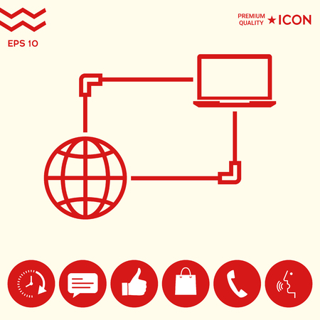 Internet connection, Data Exchange, Transfer Concept  Icon Stock Illustratie