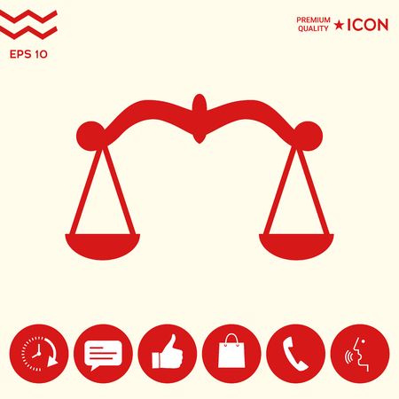 Scales, Icon symbol Illustration