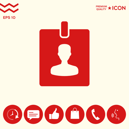 Badge symbol icon Illustration