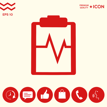 Electrocardiogram icon symbol Illustration