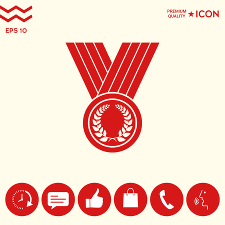 Medal with Laurel wreath, icon