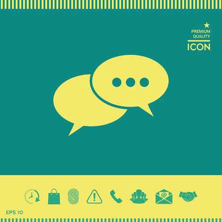 Chat sign icon Illustration