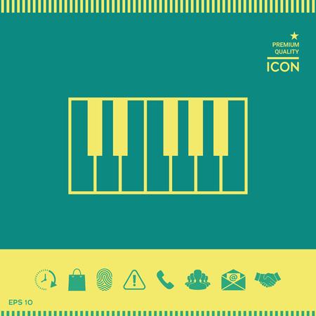 Piano keyboard icon Stock Illustratie