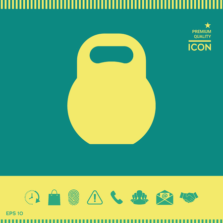 Kettlebell icon symbol