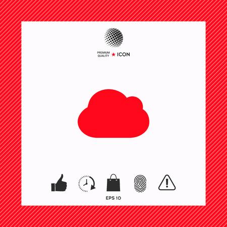 Cloud symbol icon