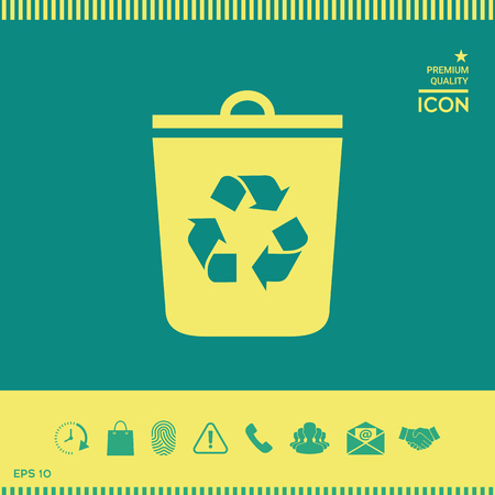 Trash can, recycle bin icon