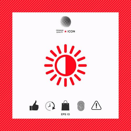 Brightness symbol icon
