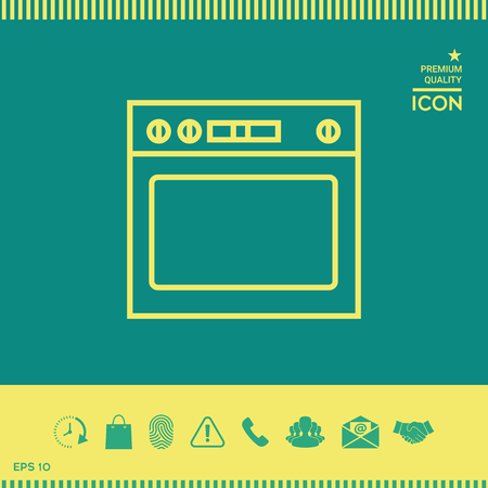 Oven linear icon 矢量图像