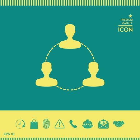 Human connection symbol, icon