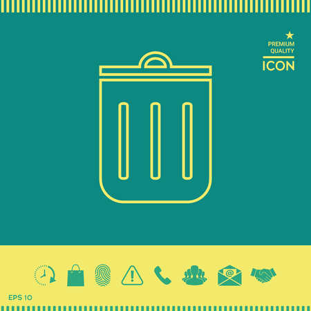 Trash can, icon