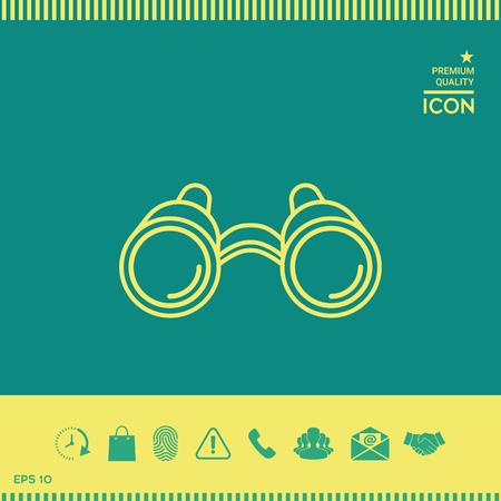 Binoculars line icon Çizim