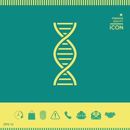 Icono de símbolo de ADN