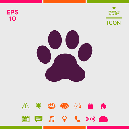 Paw icon symbol