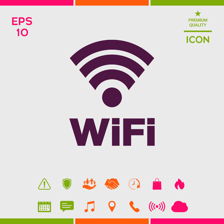 Internet connection symbol icon 일러스트