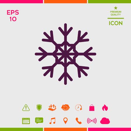 Snowflake icon symbol