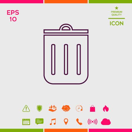 Trash can, icon